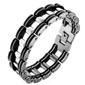 Stainless Steel and Rubber Bracelet NWT